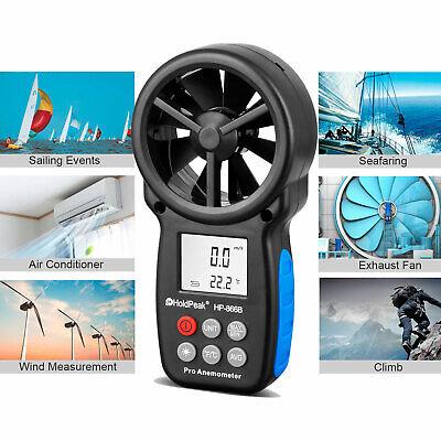 Digital Lcd Anemometer Wind Speed Meter Tester Temperature Gauge Holdpeak 866b