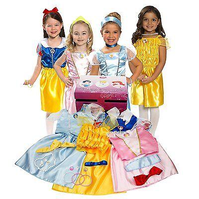 NEW, Disney Princess Dress Up Trunk girls clothes costume Set Includes 21-pieces