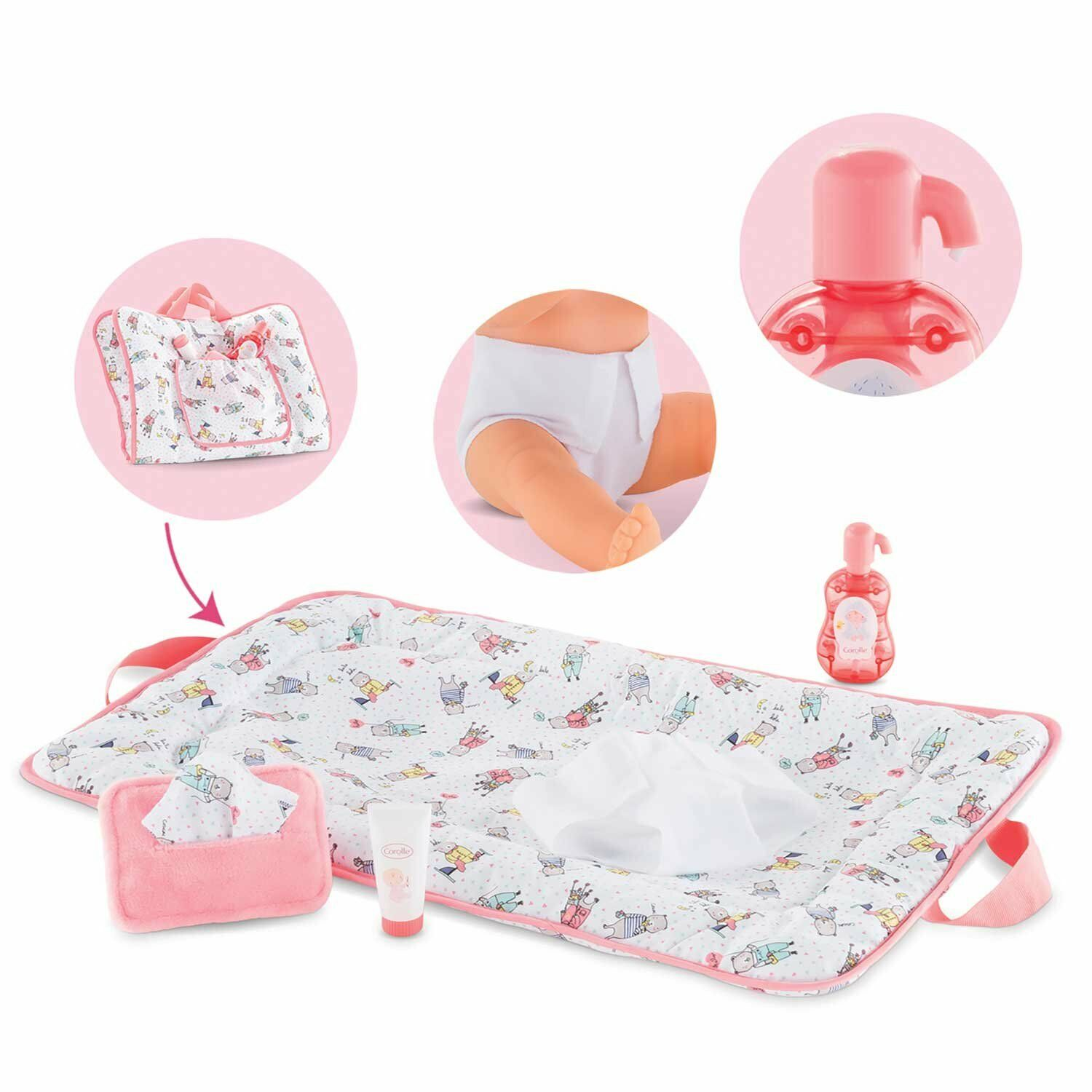 Corolle Mon Grand Poupon Changing Accessories Set Toy Baby D