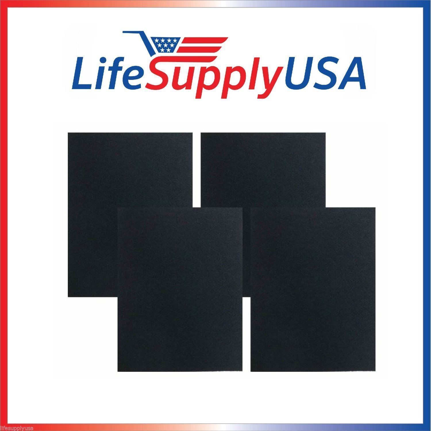 4 Replacement Carbon Pre Filters for Winix 115122, Filter G by LifeSupplyUSA