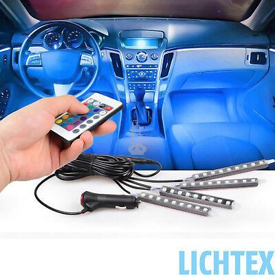 LED RGB 12V Innenbeleuchtung Fußraumbeleuchtung Leisten Ambientebeleuchtung NEU ()