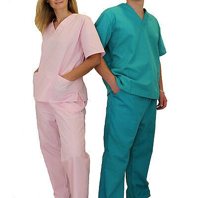 Medical Doctor Nursing Scrubs Full Set NATURAL UNIFORMS Unisex For Men Women New