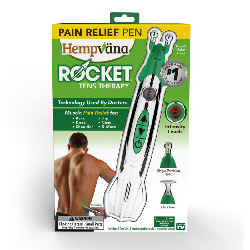 As Seen On TV Hempvana Rocket Relief TENS Pen Easy to Use Muscle Stimulator for