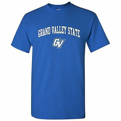- Grand Valley State University Lakers Arch Logo Licensed Unisex Tee - Royal