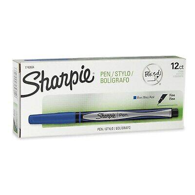 Sharpie Felt Pens Fine Point Blue Ink Dozen 1742664 741188