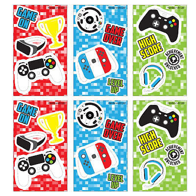6 Gamer Notebooks - Pinata Toy Loot/Party Bag Fillers Kids Playstation Xbox Boy - Xbox Party Supplies