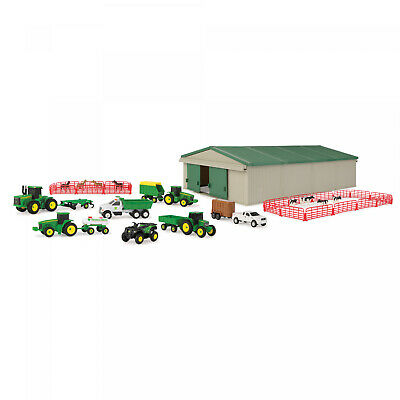 Die-Cast Farm Toy 70 Piece Value Playset - Includes Machine Shed