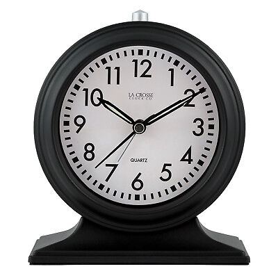 "617-3014 La Crosse Clock Company 5.7"" Decorative Tabletop Analog Alarm Clock"