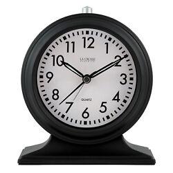 617-3014 La Crosse Clock Company 5.7 Decorative Tabletop Analog Alarm Clock