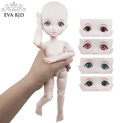 "F14 Naked Nude 1/6 SD BJD Doll 29cm 11"" jointed dolls +Basic Makeup +Choose Eyes"