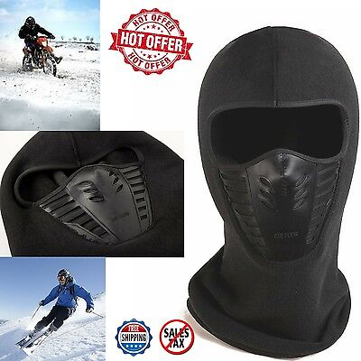 Balaclava Ski Thermal Fleece Motorcycle Full Face Mask Outdoor Cover Winter