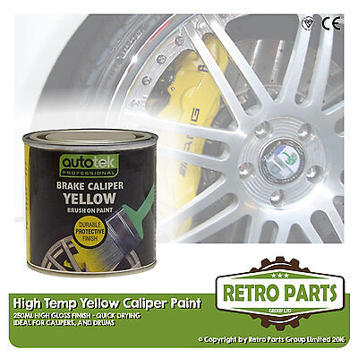 Yellow Caliper Brake Drum Paint for VW Transporter. High Gloss Quick Dying