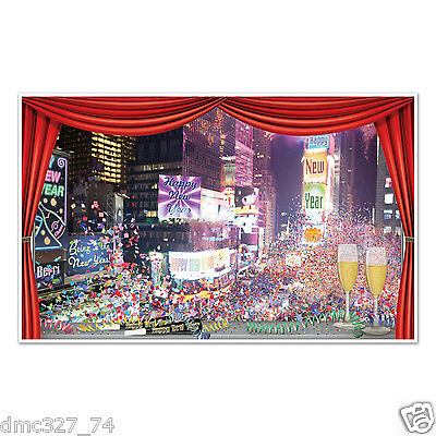 New Year Party Decoration (NEW YEAR'S EVE Party Decoration Wall Window Mural Prop NEW YORK TIMES)