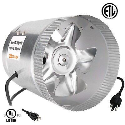 - iPower ETL Certified 6 Inch Booster Fan Inline Exhaust Blower for Ducting Vent