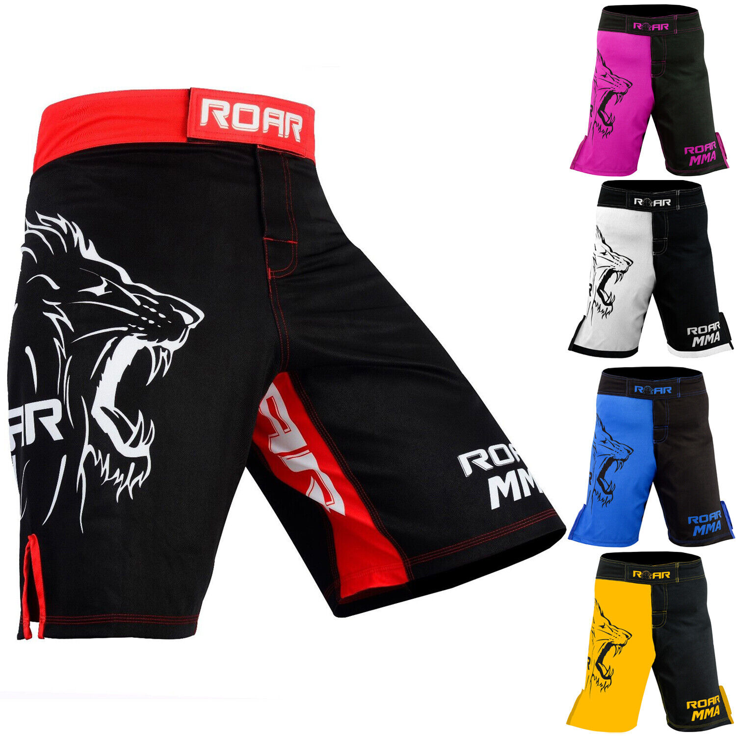 ROAR MMA Shorts Grappling UFC Cage Fight Muay Thai Trunks Wi