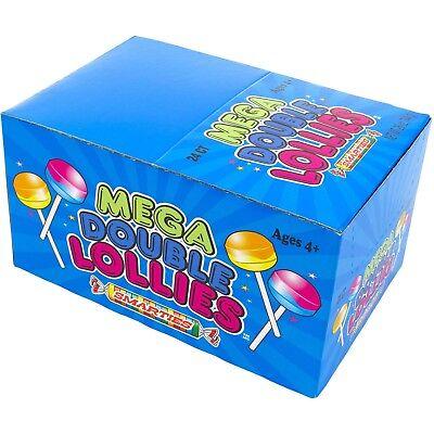 Smarties Lollipops (24 Smarties Mega Double Lollies ~Huge Lollies~)