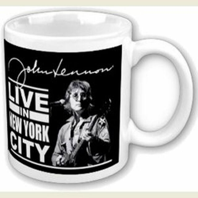 John Lennon Live In New York City NYC White Coffee Mug Boxed Official Fan Gift