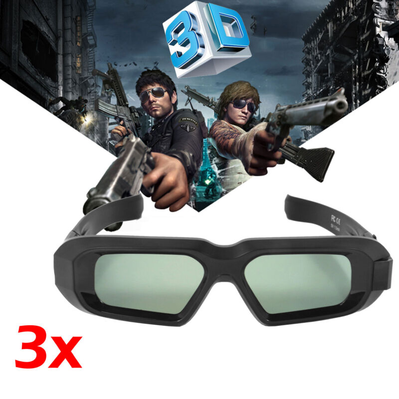 3X Active 3D Glasses Blue Tooth for EPSON Projector TW5210 TW5300 and 3DTV Sony