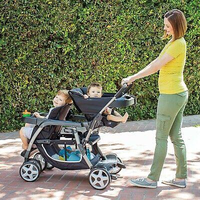 Ready 2 Grow LX Double Stroller Lightweight Double Stroller, Gotham