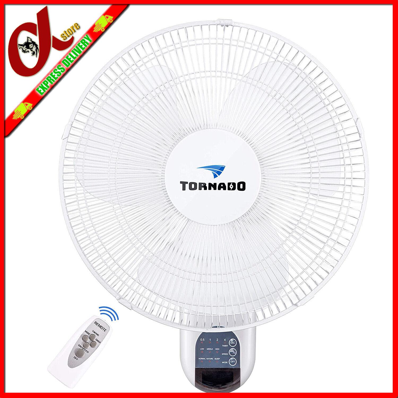 Tornado 16 Inch Digital Wall Mount Fan - Remote Control Incl