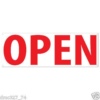 Open Sign Banner Business Retail Store Yard Sale Indooroutdoor Plastic 5 X 21