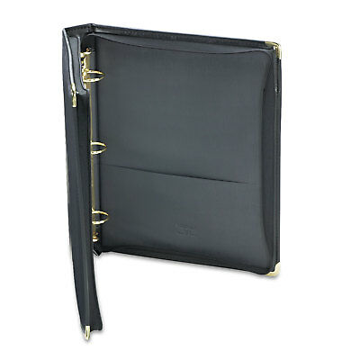 Samsill Classic Collection Zippered Ring Binder 11 X 8 12 1 12 Cap Black