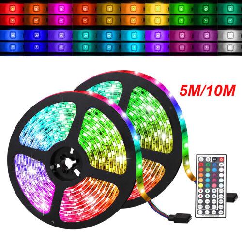 32.8 FT 5050RGB Waterproof 300LED Strip Light SMD 44 Key Remote 12V DC Power Kit