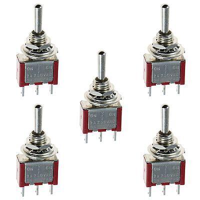5 X Mini Momentary Onoffon Toggle Switch Model Railway Spdt 12v