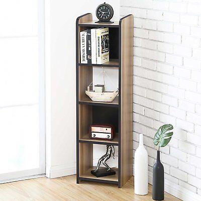 Vintage Floor Bookshelf Media Console Desks & Home Office Furniture File Supply