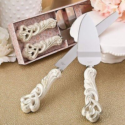 Cake Knife And Server Wedding Set Cutter Birthday Pie Dessert Serving