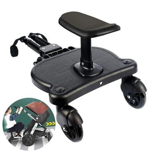 XIEEIX Universal 2-in-1 Stroller Ride Board, Buggy Board with Detachable Seat