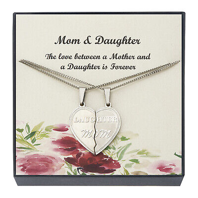Mom Pendant Necklace Mother Daughter Necklace, Gifts for Mom From Daughter & Son ()