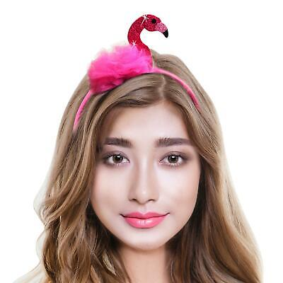 Womens Animal Bird Hat Fancy Dress Flamingo Headband Party Photo Selfie Prop