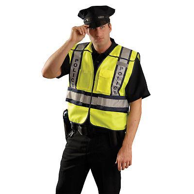 Occunomix Police Ansi Reflective Safety Vest - Xl-2x