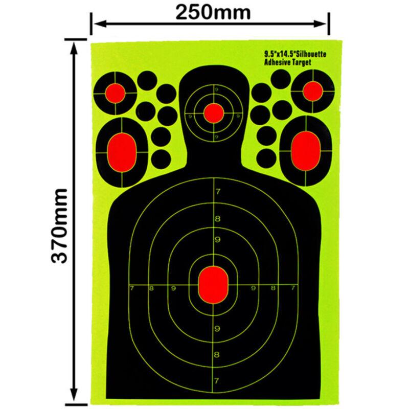 20pcs Shooting Targets Splatter Glow Gun Rifle Paper Target Adhesive US