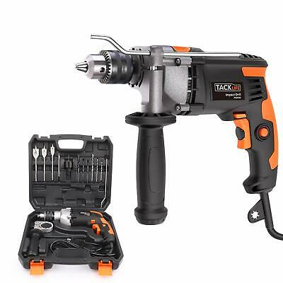 Hammer Drill Tacklife 850w 3000 Rpm Impact Drill With 15 Drill Bit Setstorage