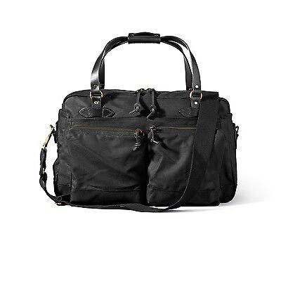 Filson 48 Hour Duffle Bag 70328 Overnight Tin Cloth Carry-on Black 11070328