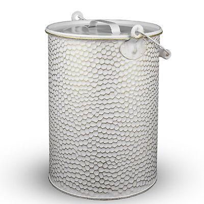 Secchio metallo 13 litri bianco/ORO ZINCATO martellato Secchio CENERE