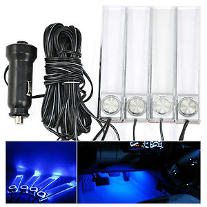 Clairage int rieur voiture lumi re led bleu d coration for Lumiere decoration interieur