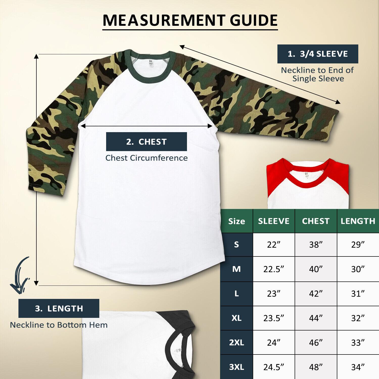 Dream USA Men's Casual 3/4 Sleeve Baseball Tshirt Raglan Jersey Shirt 1