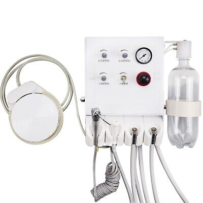 Dental Portable Turbine Unit With Weak Suction Wall-mounted Type 4 Way Straw 4h