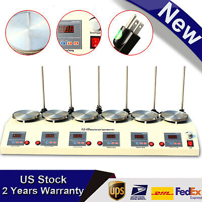 6 Heads Magnetic Stirrer Multi Unit Digital Thermostatic Lab Magnetic Mixer Usa