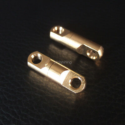 (Solid Brass Double Swivel Round Eye connector Leathercraft KeyChain)