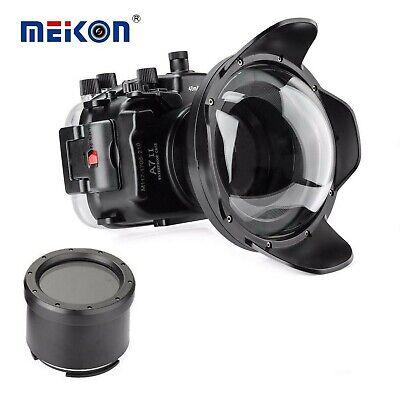 Meikon 40M Unterwasser Tauchen Gehäuse für Sony A7 II A7R II A7S II w/ Dome Port