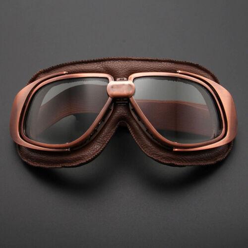 Retro Vintage Flying Pilot Aviator Goggles Motorcycle Dirt Bikes Eyewear Glasses