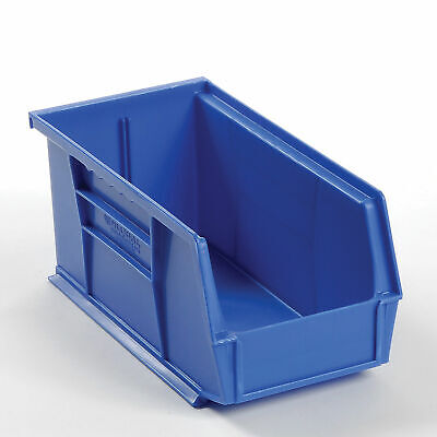 Plastic Stacking And Hanging Parts Bin 5-12 X 10-78 X 5 Blue Lot Of 12