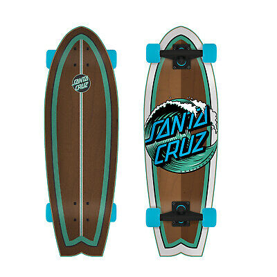 "Santa Cruz Cruiser Skateboard Complete Wave Dot Brown 8.8"" x 27.7"""