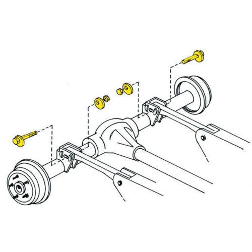 Steering Pinion Angle Adjusting Bolt Moog K100109 Fits 97 06 Jeep