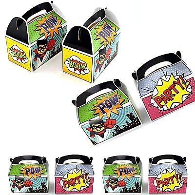 Superhero Party Favor Treat Boxes Birthday Goodie Box Party Supplies LOT