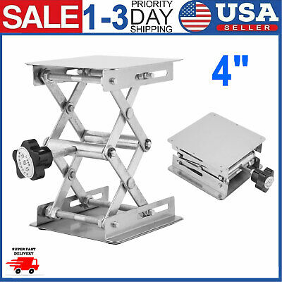Stainless Steel Laboratory Lifting Platform Stand Rack Scissor Jack Bench Lifter